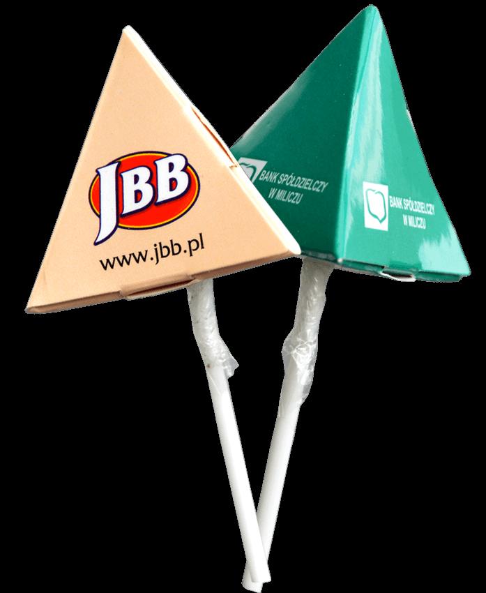 lizak reklamowy piramidka